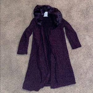 Bonnie Jean kids purple cardigan